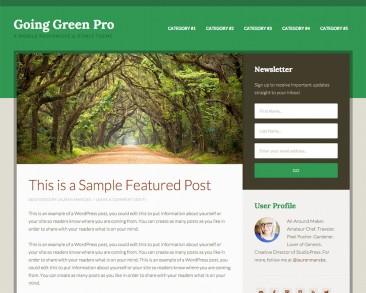 Going Green Pro theme screenshot