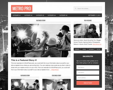 Metro Pro theme screenshot