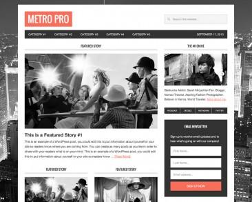 Metro Pro theme screenshot