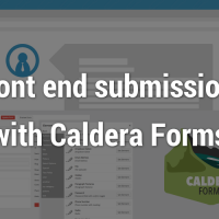 Front-end submissions with Caldera Forms