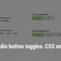 Radio button toggles