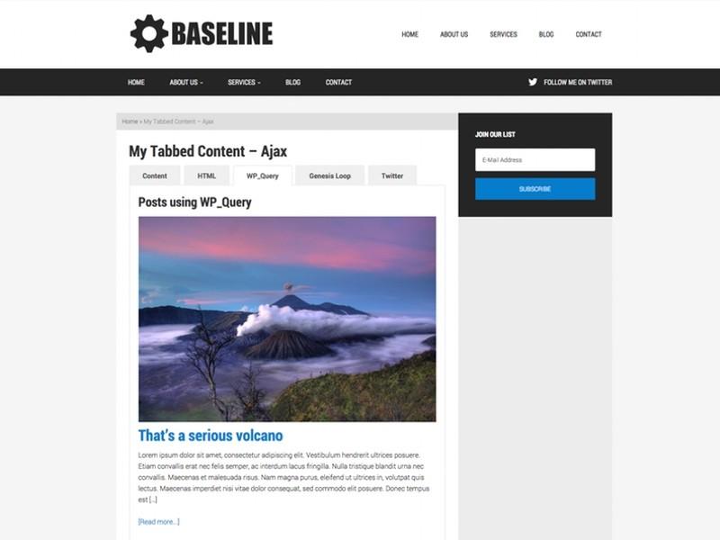 Tabbed Content via AJAX