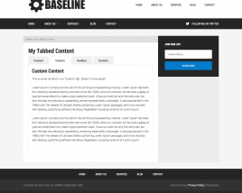 Tabbed Content Page Template