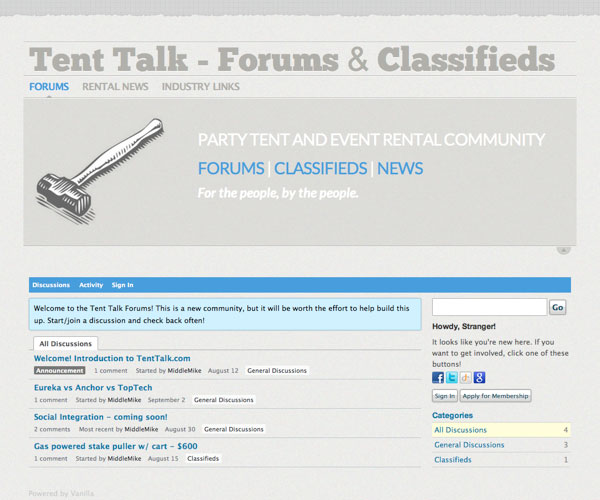 Tent Talk website