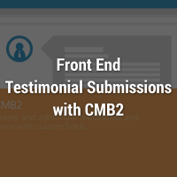 Testimonials Front End Submission with CMB2